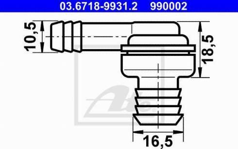 ATE 03.6718-9931.2 - Króciec przyłączeniowy, przewód podciżnieniowy intermotor-polska.com