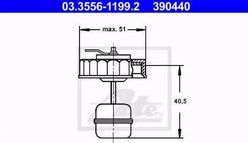 ATE 03.3556-1199.2 - Pokrywa, zbiornik płynu hamulcowego intermotor-polska.com