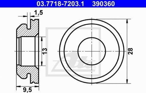 ATE 03.7718-7203.1 - Uszczelnienie, króciec przyłączeniowy przewodu podciżn. BKV intermotor-polska.com