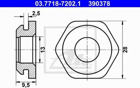 ATE 03.7718-7202.1 - Uszczelnienie, króciec przyłączeniowy przewodu podciżn. BKV intermotor-polska.com