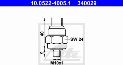 ATE 10.0522-4005.1 - Przełącznik cisnieniowy, hydraulika hamulcowa intermotor-polska.com