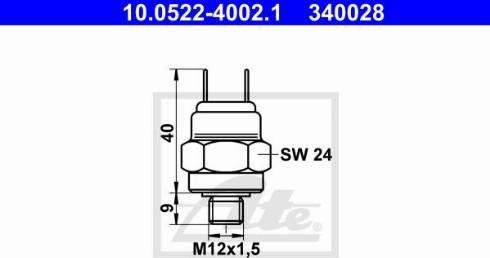 ATE 10.0522-4002.1 - Przełącznik cisnieniowy, hydraulika hamulcowa intermotor-polska.com