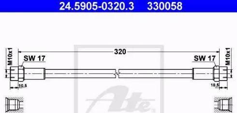 ATE 24.5905-0320.3 - Przewód sprzęgła intermotor-polska.com