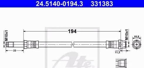 ATE 24.5140-0194.3 - Przewód hamulcowy elastyczny intermotor-polska.com