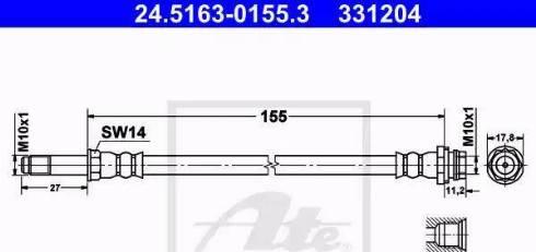 ATE 24.5163-0155.3 - Przewód hamulcowy elastyczny intermotor-polska.com
