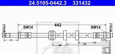 ATE 24.5105-0442.3 - Przewód hamulcowy elastyczny intermotor-polska.com