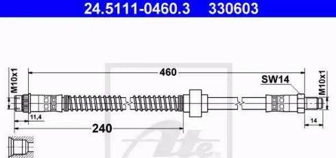 ATE 24.5111-0460.3 - Przewód hamulcowy elastyczny intermotor-polska.com