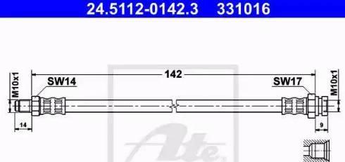 ATE 24.5112-0142.3 - Przewód hamulcowy elastyczny intermotor-polska.com