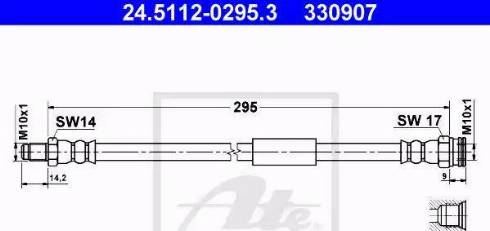 ATE 24.5112-0295.3 - Przewód hamulcowy elastyczny intermotor-polska.com
