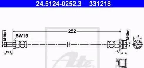 ATE 24.5124-0252.3 - Przewód hamulcowy elastyczny intermotor-polska.com