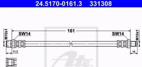 ATE 24.5170-0161.3 - Przewód hamulcowy elastyczny intermotor-polska.com