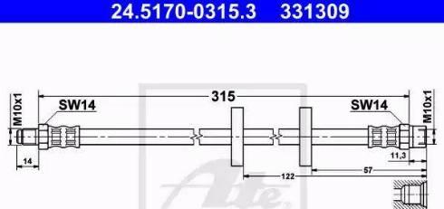 ATE 24.5170-0315.3 - Przewód hamulcowy elastyczny intermotor-polska.com