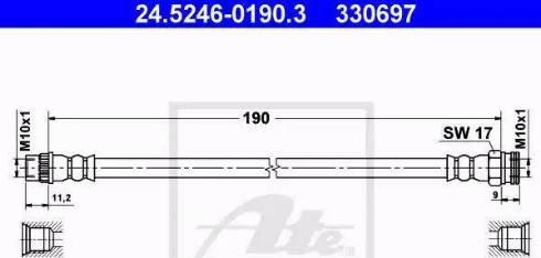 ATE 24.5246-0190.3 - Przewód hamulcowy elastyczny intermotor-polska.com