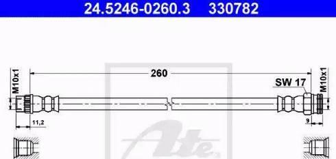ATE 24.5246-0260.3 - Przewód hamulcowy elastyczny intermotor-polska.com