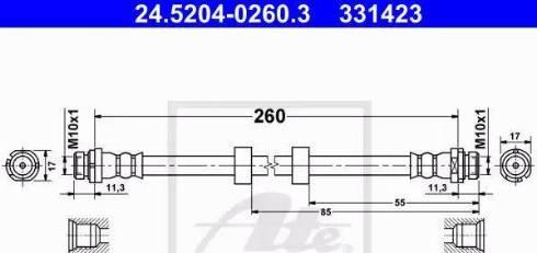 ATE 24.5204-0260.3 - Przewód hamulcowy elastyczny intermotor-polska.com