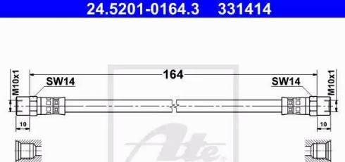 ATE 24.5201-0164.3 - Przewód hamulcowy elastyczny intermotor-polska.com