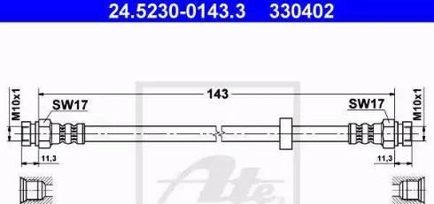 ATE 24.5230-0143.3 - Przewód hamulcowy elastyczny intermotor-polska.com