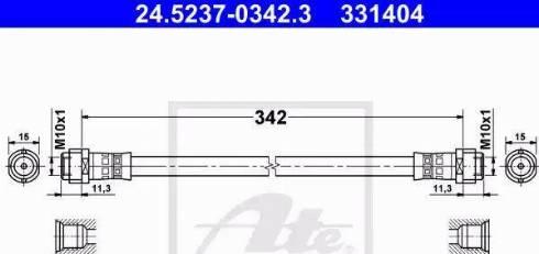 ATE 24.5237-0342.3 - Przewód hamulcowy elastyczny intermotor-polska.com