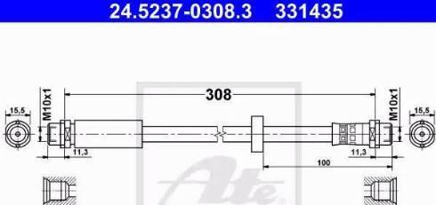 ATE 24.5237-0308.3 - Przewód hamulcowy elastyczny intermotor-polska.com