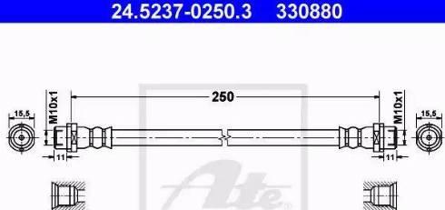 ATE 24.5237-0250.3 - Przewód hamulcowy elastyczny intermotor-polska.com