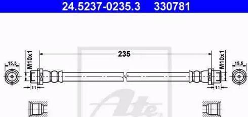 ATE 24.5237-0235.3 - Przewód hamulcowy elastyczny intermotor-polska.com