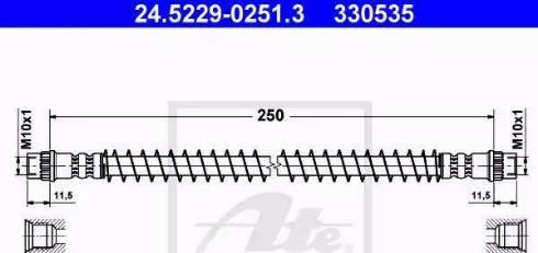 ATE 24.5229-0251.3 - Przewód hamulcowy elastyczny intermotor-polska.com