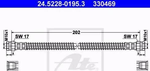 ATE 24.5228-0195.3 - Przewód hamulcowy elastyczny intermotor-polska.com