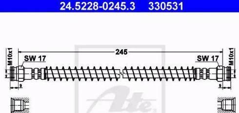 ATE 24.5228-0245.3 - Przewód hamulcowy elastyczny intermotor-polska.com