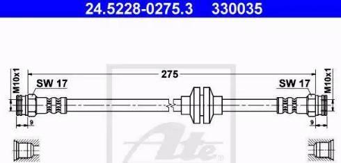 ATE 24.5228-0275.3 - Przewód hamulcowy elastyczny intermotor-polska.com