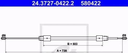 ATE 24.3727-0422.2 - Cięgno, hamulec postojowy intermotor-polska.com