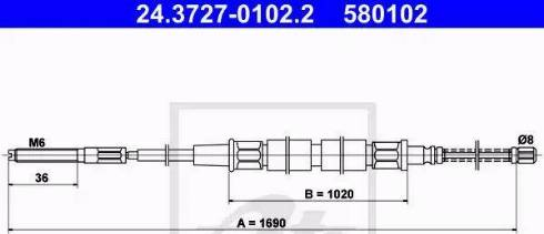 ATE 24.3727-0102.2 - Cięgno, hamulec postojowy intermotor-polska.com