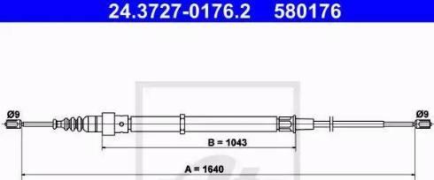 ATE 24.3727-0176.2 - Cięgno, hamulec postojowy intermotor-polska.com