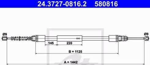 ATE 24.3727-0816.2 - Cięgno, hamulec postojowy intermotor-polska.com