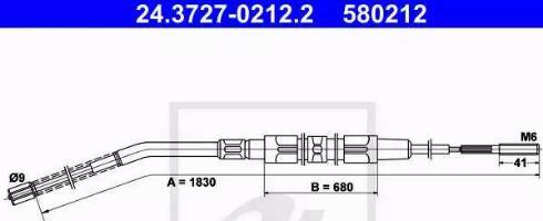 ATE 24.3727-0212.2 - Cięgno, hamulec postojowy intermotor-polska.com