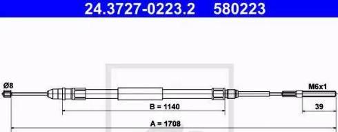 ATE 24.3727-0223.2 - Cięgno, hamulec postojowy intermotor-polska.com