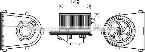 Ava Quality Cooling AI8378 - Silnik elektryczny, dmuchawa wnętrza intermotor-polska.com