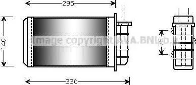 Ava Quality Cooling FT6183 - Wymiennik ciepła, ogrzewanie wnętrza intermotor-polska.com