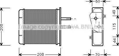 Ava Quality Cooling FTA6150 - Wymiennik ciepła, ogrzewanie wnętrza intermotor-polska.com