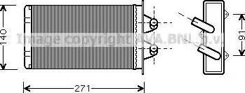 Ava Quality Cooling FTA6186 - Wymiennik ciepła, ogrzewanie wnętrza intermotor-polska.com