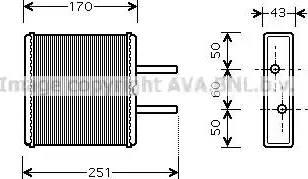 Ava Quality Cooling KA6046 - Wymiennik ciepła, ogrzewanie wnętrza intermotor-polska.com