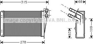 Ava Quality Cooling RT6228 - Wymiennik ciepła, ogrzewanie wnętrza intermotor-polska.com