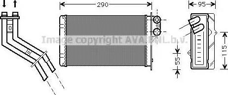 Ava Quality Cooling RT6227 - Wymiennik ciepła, ogrzewanie wnętrza intermotor-polska.com
