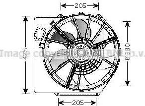 Ava Quality Cooling RT7536 - Wentylator, chłodzenie silnika intermotor-polska.com