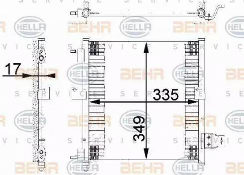 BEHR HELLA Service 8FC351038-781 - Skraplacz, klimatyzacja intermotor-polska.com