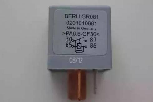 BERU gr081 - Przekaznik, układ ogrzewania wstępnego intermotor-polska.com