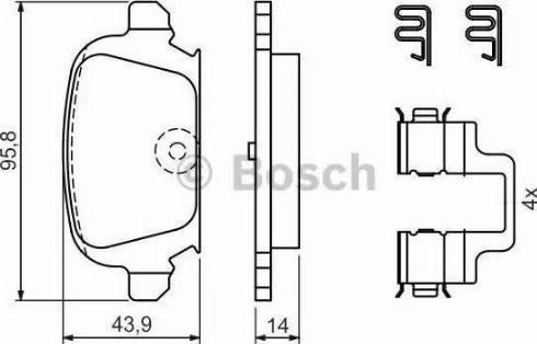BOSCH 0 986 424 528 - Zestaw klocków hamulcowych, hamulce tarczowe intermotor-polska.com