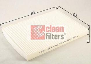 Clean Filters NC2012 - Filtr, wentylacja przestrzeni pasażerskiej intermotor-polska.com