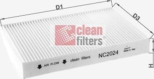 Clean Filters NC2024 - Filtr, wentylacja przestrzeni pasażerskiej intermotor-polska.com