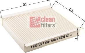 Clean Filters NC2348 - Filtr, wentylacja przestrzeni pasażerskiej intermotor-polska.com