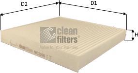 Clean Filters NC2206 - Filtr, wentylacja przestrzeni pasażerskiej intermotor-polska.com